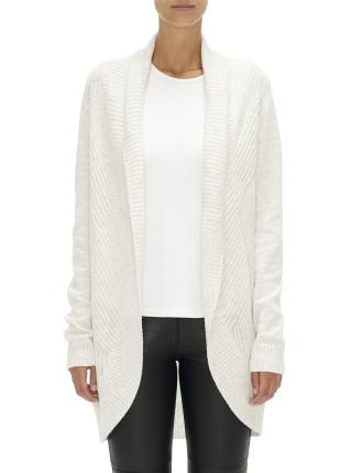 Textured wool cardigan