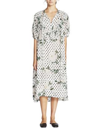 Loulou Silk Georgette S/S Dress
