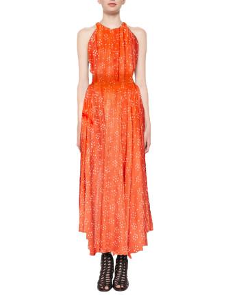 Sacred Hand Shirred Dress