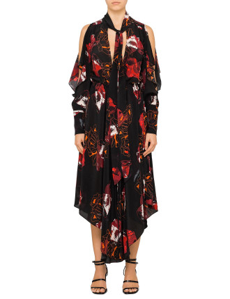 STENCIL FLORAL DRESS