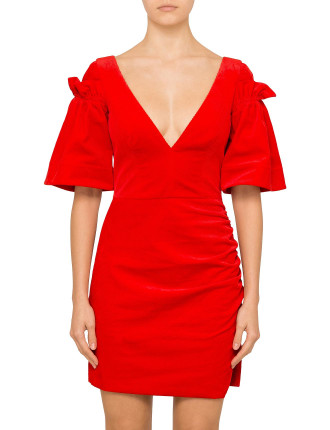 VELVET RED RISING DRESS
