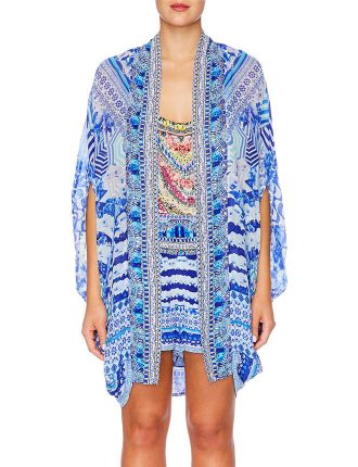 CAMILLA Throwing Shade Open Front Cardi Cape