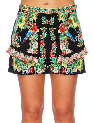 CAMILLA Toucan Play High Waisted Shorts With Frill