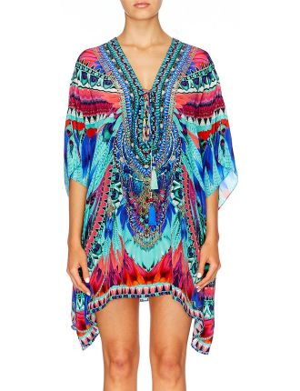 CAMILLA EXCLUSIVE Sky Fall Short Lace Up Kaftan