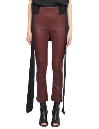 Pride Crop Leather Pant
