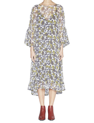 Carmel Silk Georgette Tier Dress