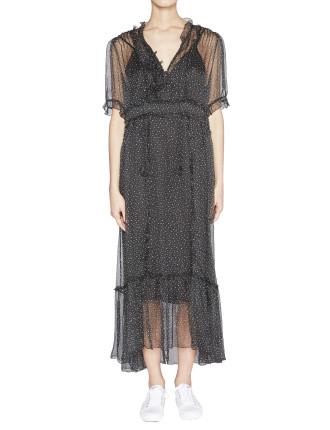 Ladybird Silk Georgette Dress with Slip