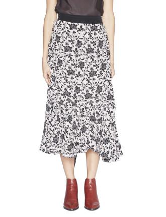 Laurie Silk Wrap Skirt