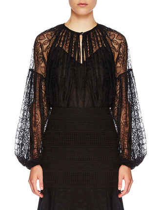 Plume Lace Blouse