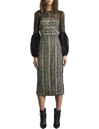 Lou Lou Lace Gather Sleeve Dress