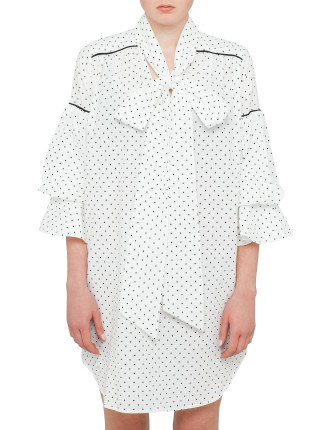 Luna Spot Ruffle Dress
