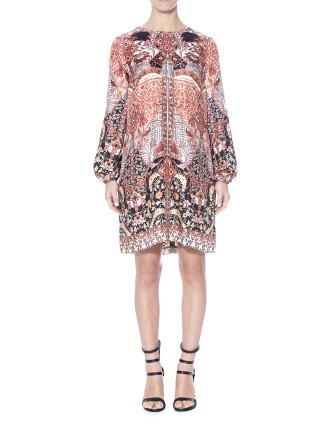 Wonderland Print Shift Dress