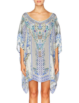 CAMILLA Salvador Summer Short Round Neck Kaftan