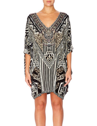 CAMILLA Tribal Theory Bat Sleeve Dress
