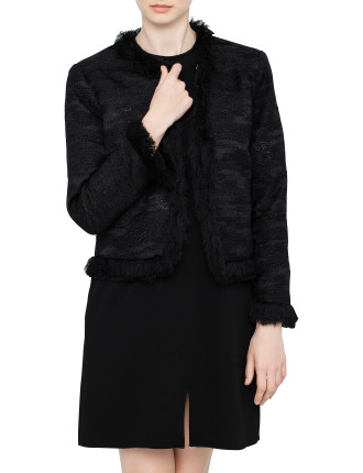 Ellery Boxy Jacket Shimmer Tweed