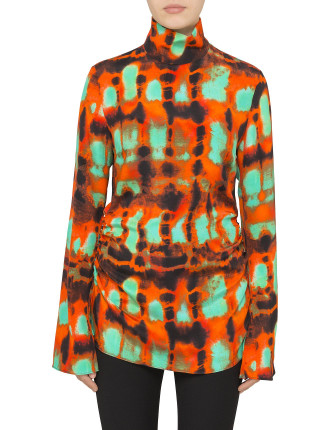 Yuppy Printed Funnel Neck Top