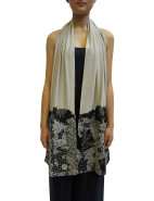 Beaded Scarf With Batik Flower $599.00