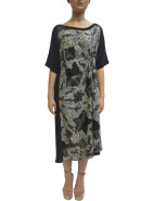 3/4 Sleeve Spiral Shibori Dress With Tuck $689.00