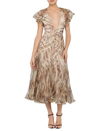Tamer Tiger Chevron Dress