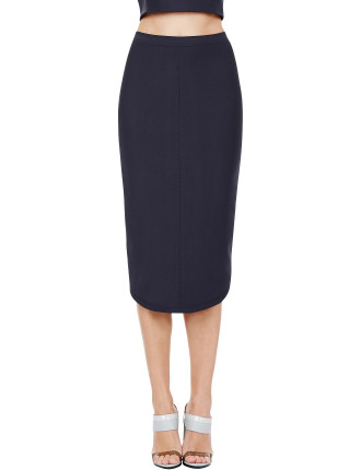 Blue Steel Pencil Skirt