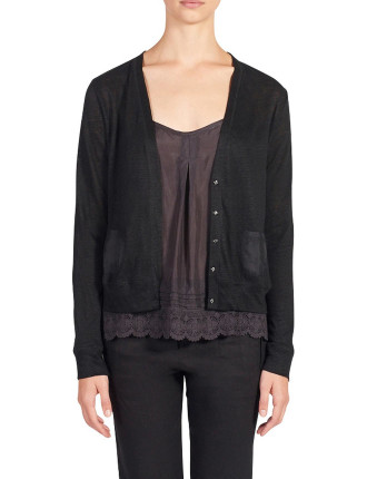 Linen Jersey Cardigan