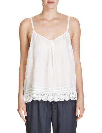 Silk Cami With Lace