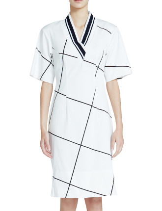 clean cotton drill fitted tee dress