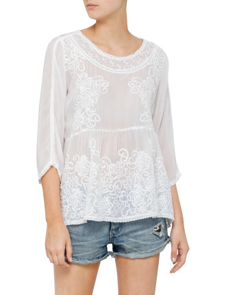 Rosy Baby Doll Top