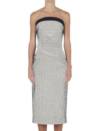 Arch Double Neckline Pencil Dress
