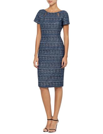 Brocade Sliced Dress