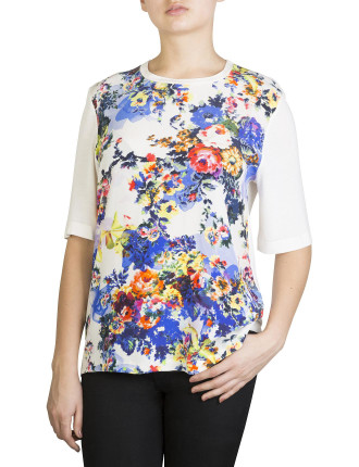 ainsley silk and jersey t-shirt