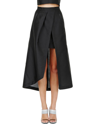 Polished Glaze Wrap Skirt
