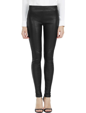 Greta Panelled Leather Leggings