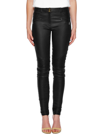 Lovisa Quilted Leather Moto Pants