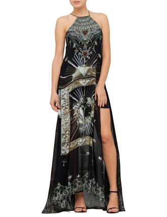 Sheer Overlay Dress