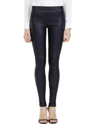 Greta Panelled Leather Leggings