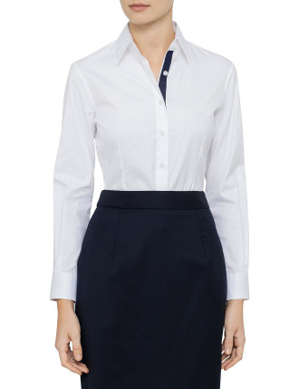 Jackie Fashion Shirt With Navy Grosgrain