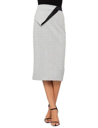 Asphalt Crepe Skirt