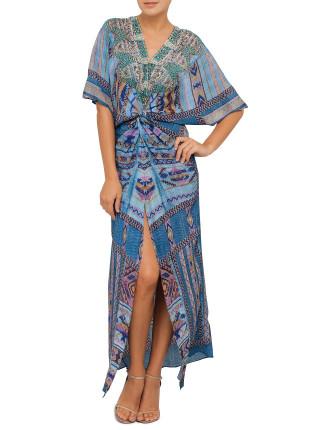 Stitch Of The Condor Split Front Twist Dress