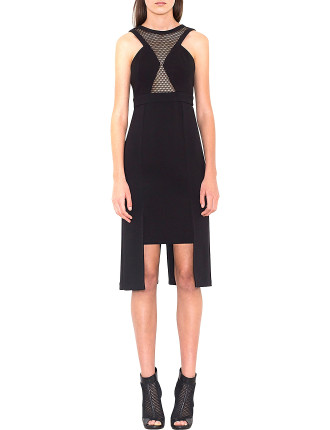 Arrow Mesh Insert Dress