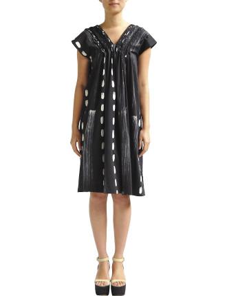 Batik V Neck Plait Dress