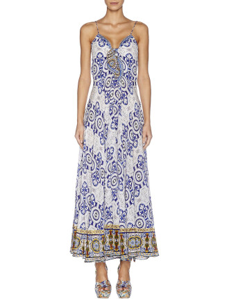 DRESS WITH TIE FRONT BODICE