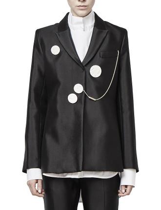 Gertrude Slim Line Blazer With Ceramic Buttons