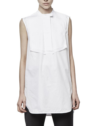 Vienna Sleeveless Shirt With Wide Placket
