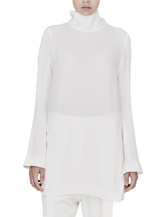 Super Creep Turtleneck Tunic With Side Splits