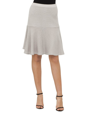 SABATINI FIT AND FLARE RIB SKIRT