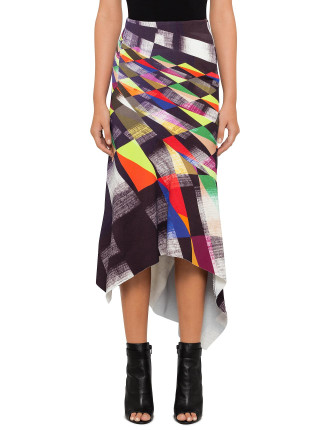 Geometric Abstraction Skirt