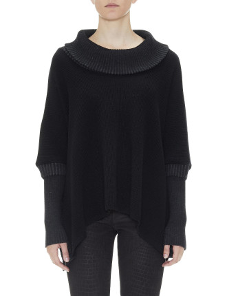Loose Roll Neck With Rib