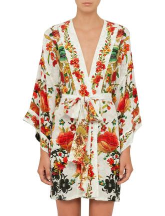 CAMILLA La Rosa Kimono w/ Tie Belt