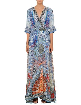 CAMILLA Concubine Realm Batwing Wrap Dress